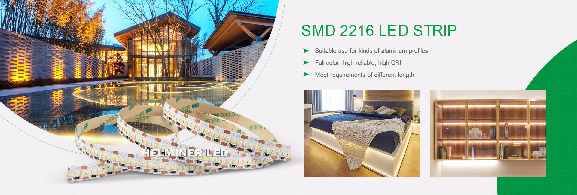 2216 led strip, 2110 led strip, cri90 cri95 cri98 led strip, led for aluminum profile , led light