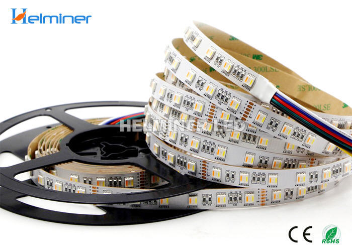 High CRI 90 95 5 IN 1 RGBWW LED Strips, RGB+Double White LED Strips